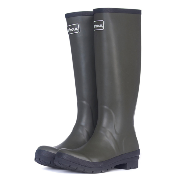 Pair of Barbour Womens Abbey Wellington Boots Olive