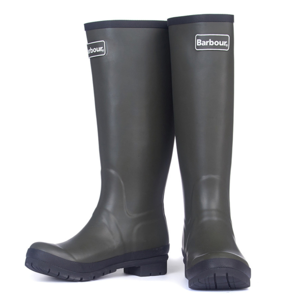 Pair of Barbour Womens Abbey Wellingtons Olive With Barbour Label