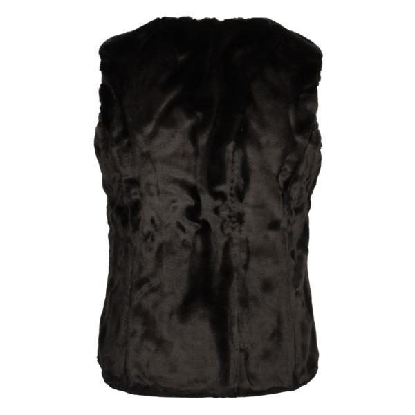 Barbour Womens Hornbeam Reversible Liner Gilet Black/Black Back Reverse Plush Pile Design