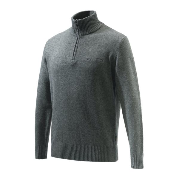 Beretta Dorset Half Zip Sweater Grey Melange