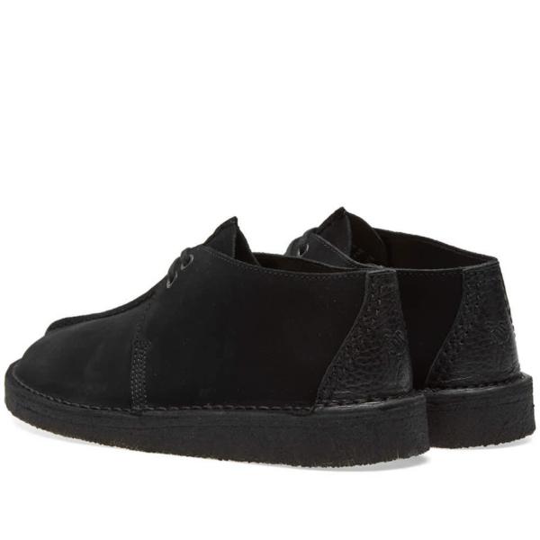 Clarks Originals Desert Trek Shoes Black Suede