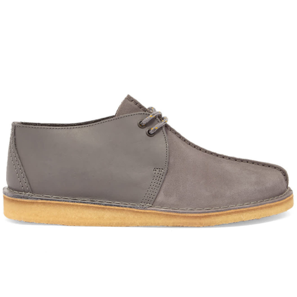 Clarks Originals Desert Trek Shoes Blue Grey Combi