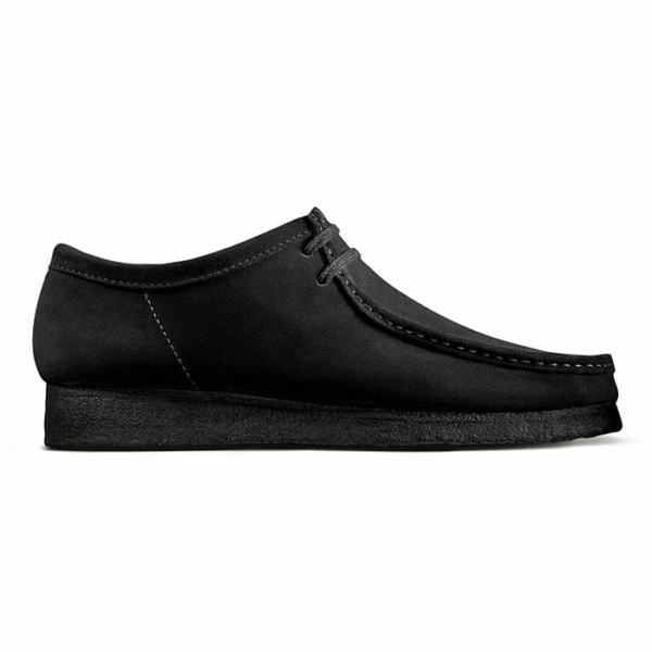 Clarks Originals Wallabee Shoes Black Suede