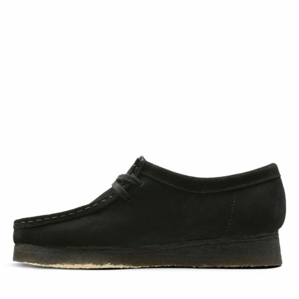 Clarks Originals Womens Wallabee Shoes Black Suede