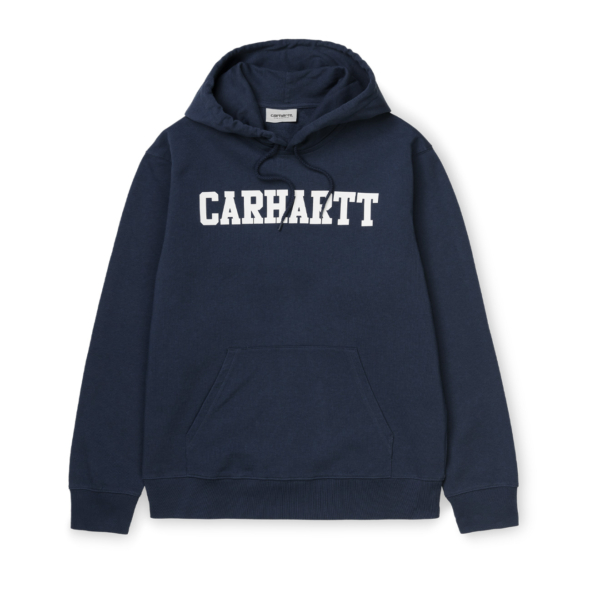 Carhartt Hooded College Sweat Dark Navy / White