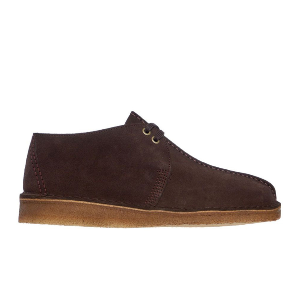 Clarks Originals Desert Trek Shoes Dark Brown
