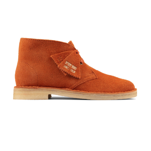 Clarks Originals Womens Desert Boot Ginger Suede