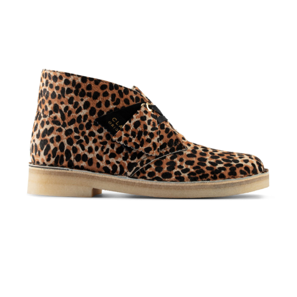 Clarks Originals Womens Desert Boot Leopard Print