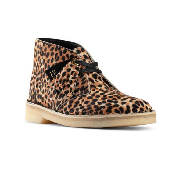 Clarks Originals Womens Desert Boot Leopard Print