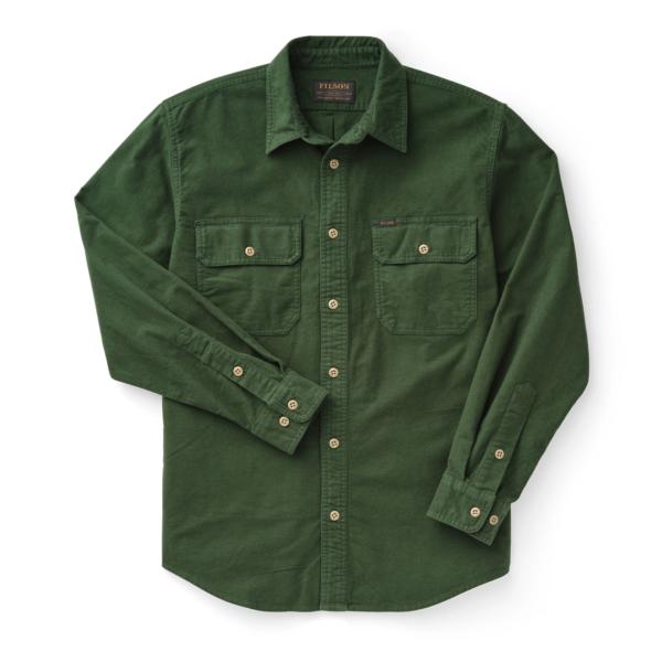 Filson Field Flannel Shirt Dark Moss
