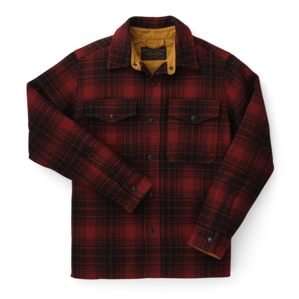 Filson Mackinaw Jac Shirt Oxblood / Black