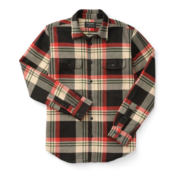 Filson Vintage Flannel Work Shirt Black / Red / Cream