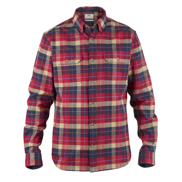 Fjallraven Singi Heavy Flannel Shirt Deep Red