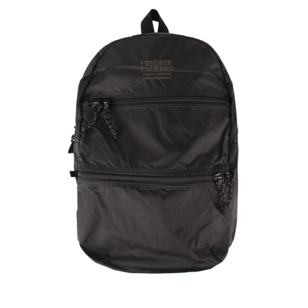 Fredrik Packers Double Zip Backpack Black