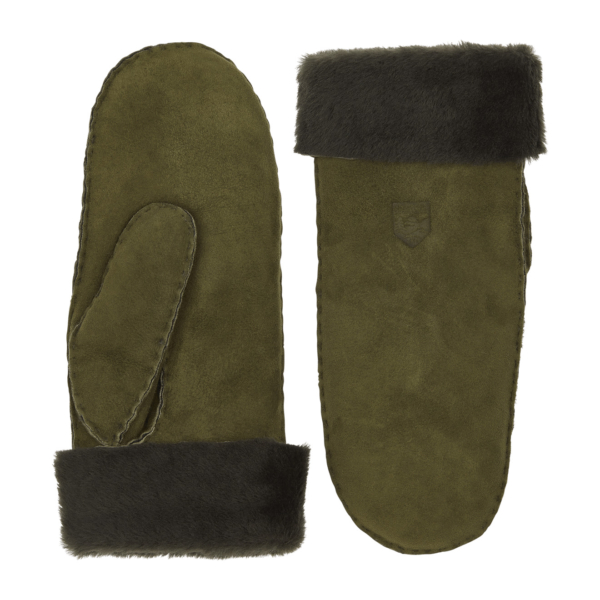 Hestra Sheepskin Mitt Green