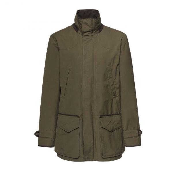 James Purdey Dry Wax Hybrid Jacket Dark Olive