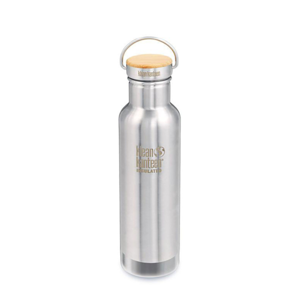 Klean Kanteen Reflect Vacuum Insulated Bamboo Cap 592ml Brushed Stainless