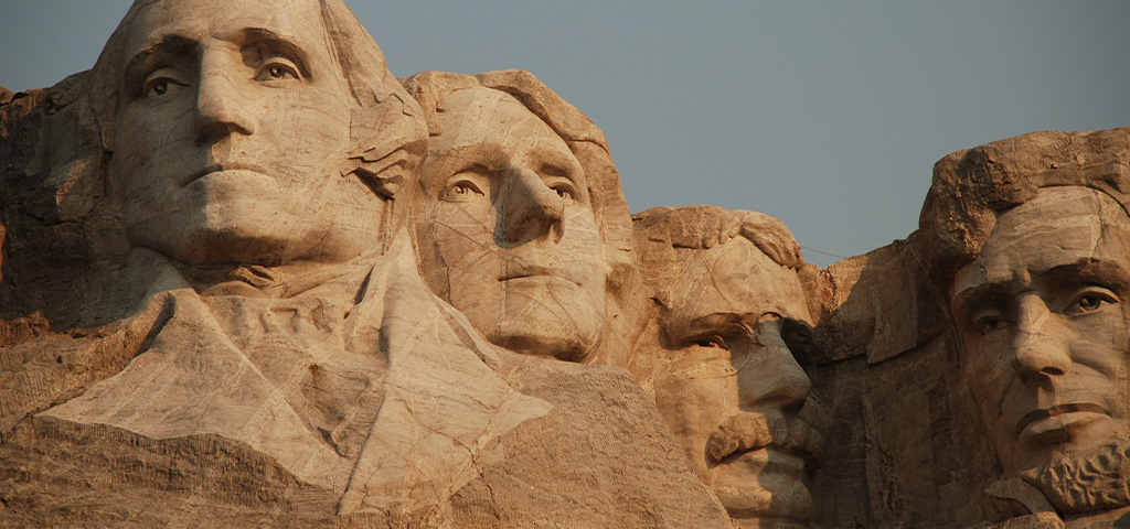 National Memorial American Presidents Carved into Mount Rushmore, South Dakota