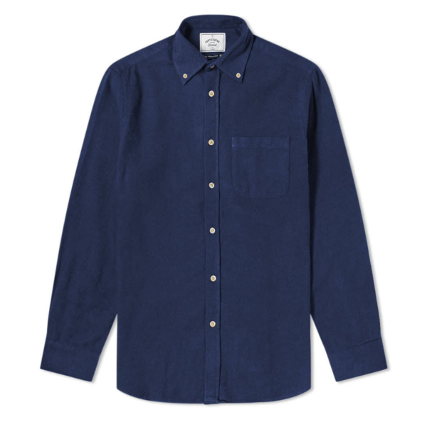 Portuguese Flannel Teca Shirt Navy