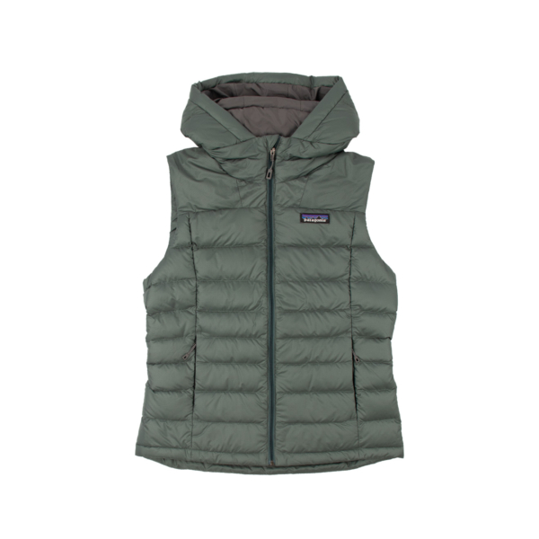 Patagonia Womens Hi-Loft Down Hooded Vest Regan Green
