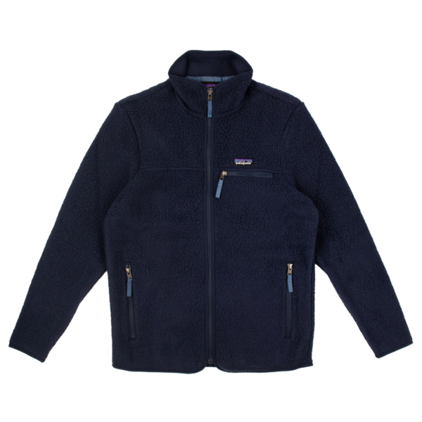 Patagonia Womens Retro Pile Fleece Jacket New Navy