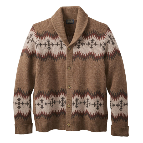 Pendleton Sonora Cardigan Tan / Red
