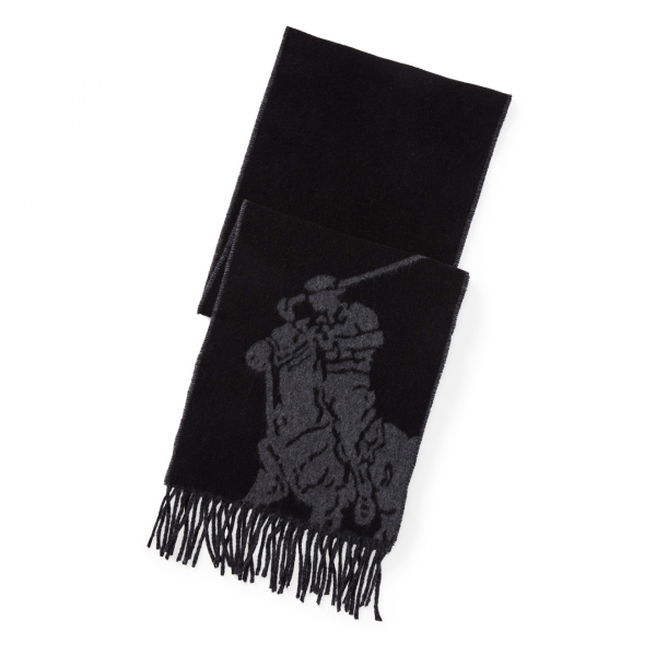 Polo Ralph Lauren Big PP Scarf Black / Grey