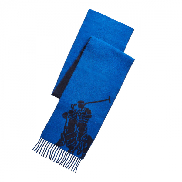 Polo Ralph Lauren Big PP Scarf Navy / Blue