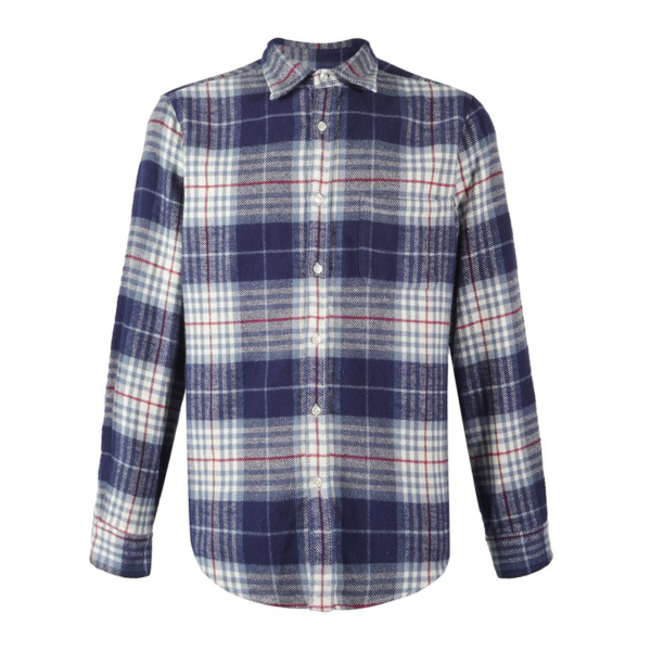 Portuguese Flannel Bleeckers Check L/S Shirt Blue / Navy / Red