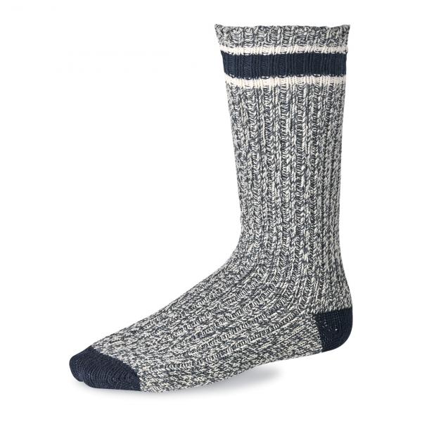 Red Wing Striped Wool Ragg Sock Slate / Navy