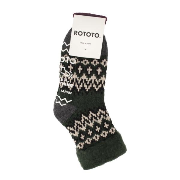 RoToTo Comfy Room Socks Nordic Dark Green