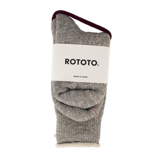 RoToTo Double Face Socks Mid Gray