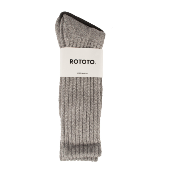 RoToTo Loose Pile Socks Mix Gray