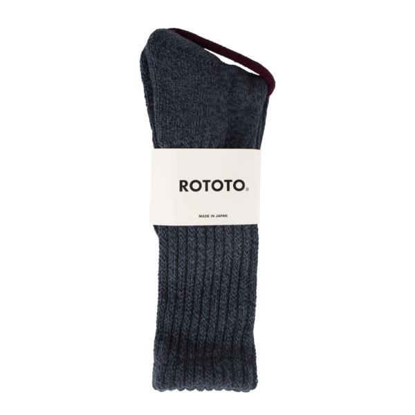 RoToTo Loose Pile Socks Mix Navy