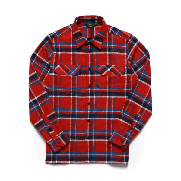 Sebago Swan L/S Check Shirt Check Orange