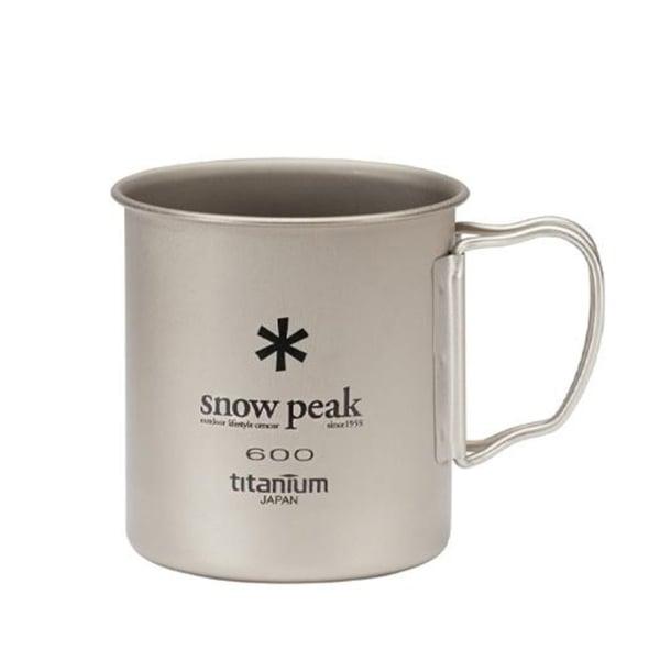 Snow Peak Single Wall 600 Mug Titanium