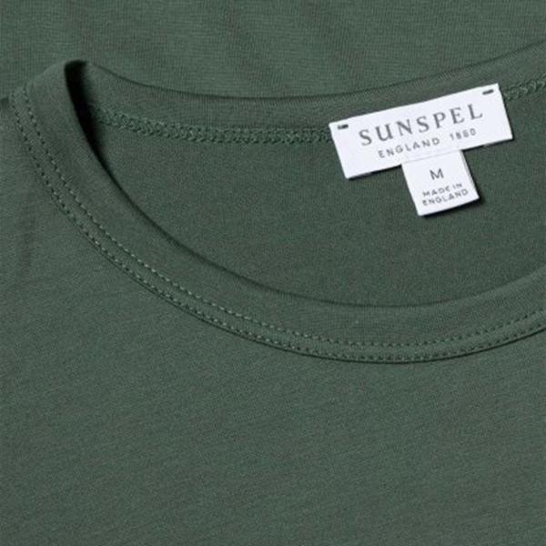 Sunspel Classic Crew Neck T-Shirt Pine