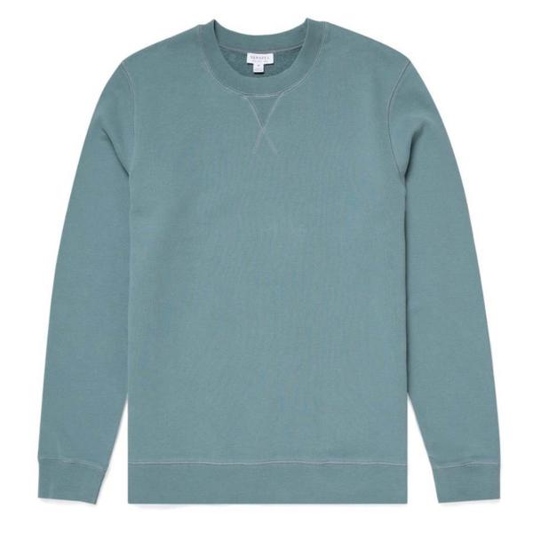 Sunspel Loopback Sweatshirt Dove Grey