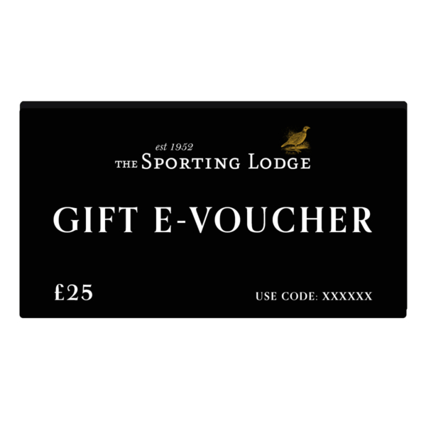 Gift E-Voucher £25 Black Card The Sporting Lodge