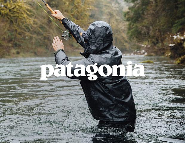 Man wearing Patagonia Jacket Fishing