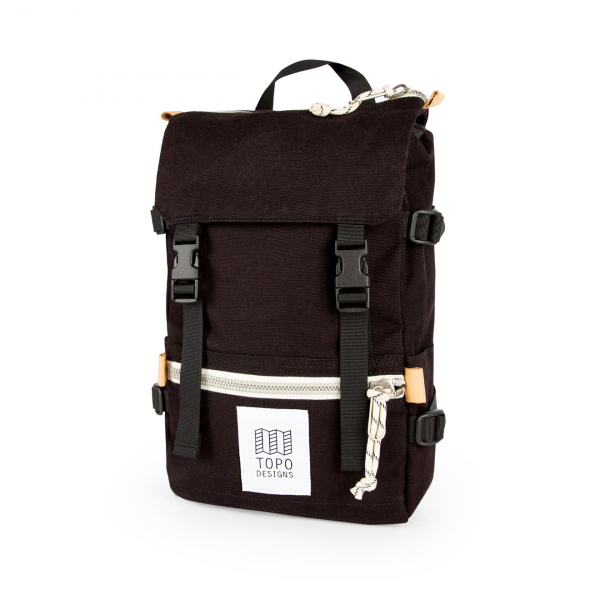 Topo Designs Rover Pack Mini 10L Backpack Black Canvas