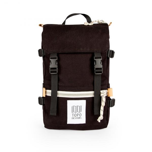 Topo Designs Rover Pack Mini 10L Backpack Black Canvas