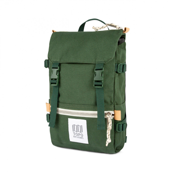 Topo Designs Rover Pack Mini 10L Backpack Forest Canvas