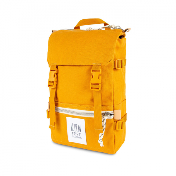 Topo Designs Rover Pack Mini 10L Backpack Yellow Canvas