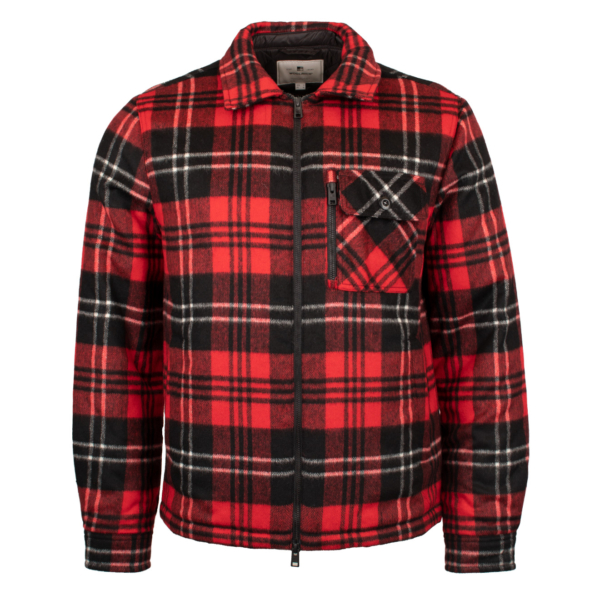 Woolrich Timber Padded Over Shirt Red / Black Check