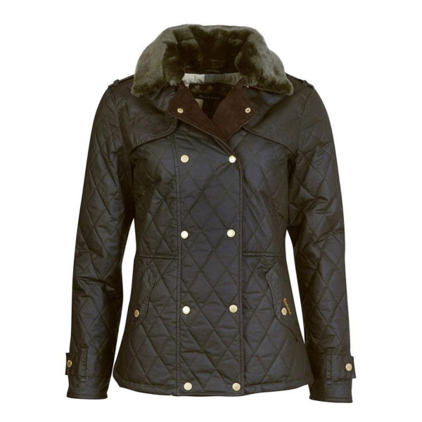 Barbour Womens Elmis Wax Jacket Sage / Ancient