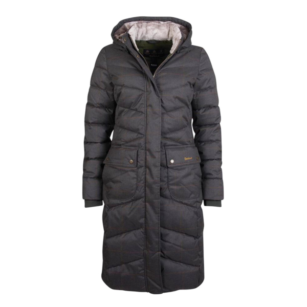 Barbour Womens Kingston Quilt Jacket Olive Check
