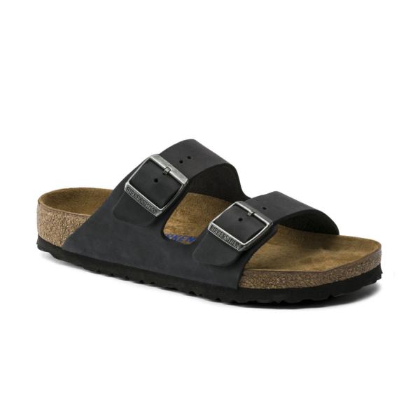 Birkenstock Arizona NU Soft Footbed Sandal Mens Oiled Black