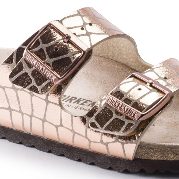 Birkenstock Arizona Sandal Womens Gator Gleam Copper