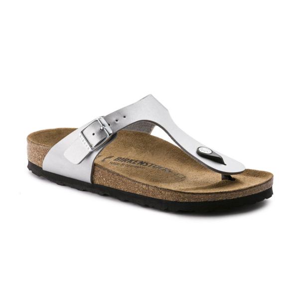 Birkenstock Gizeh NL SFB Sandal Womens Metallic Silver